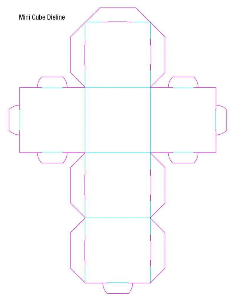 Mini Cube Dieline